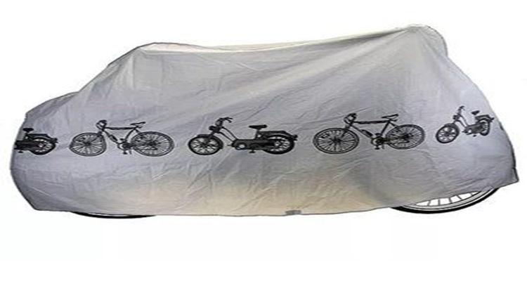 Las fundas impermeables ayudarán a mantener sana y salva tu bicicleta.